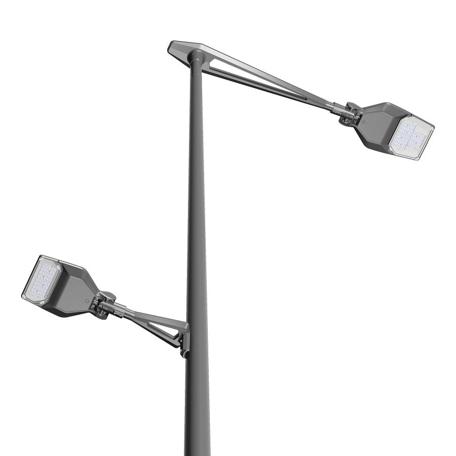 Thanks to its unique design with v-shaped opening, the KEMA bracket adds value to your lighting installation.