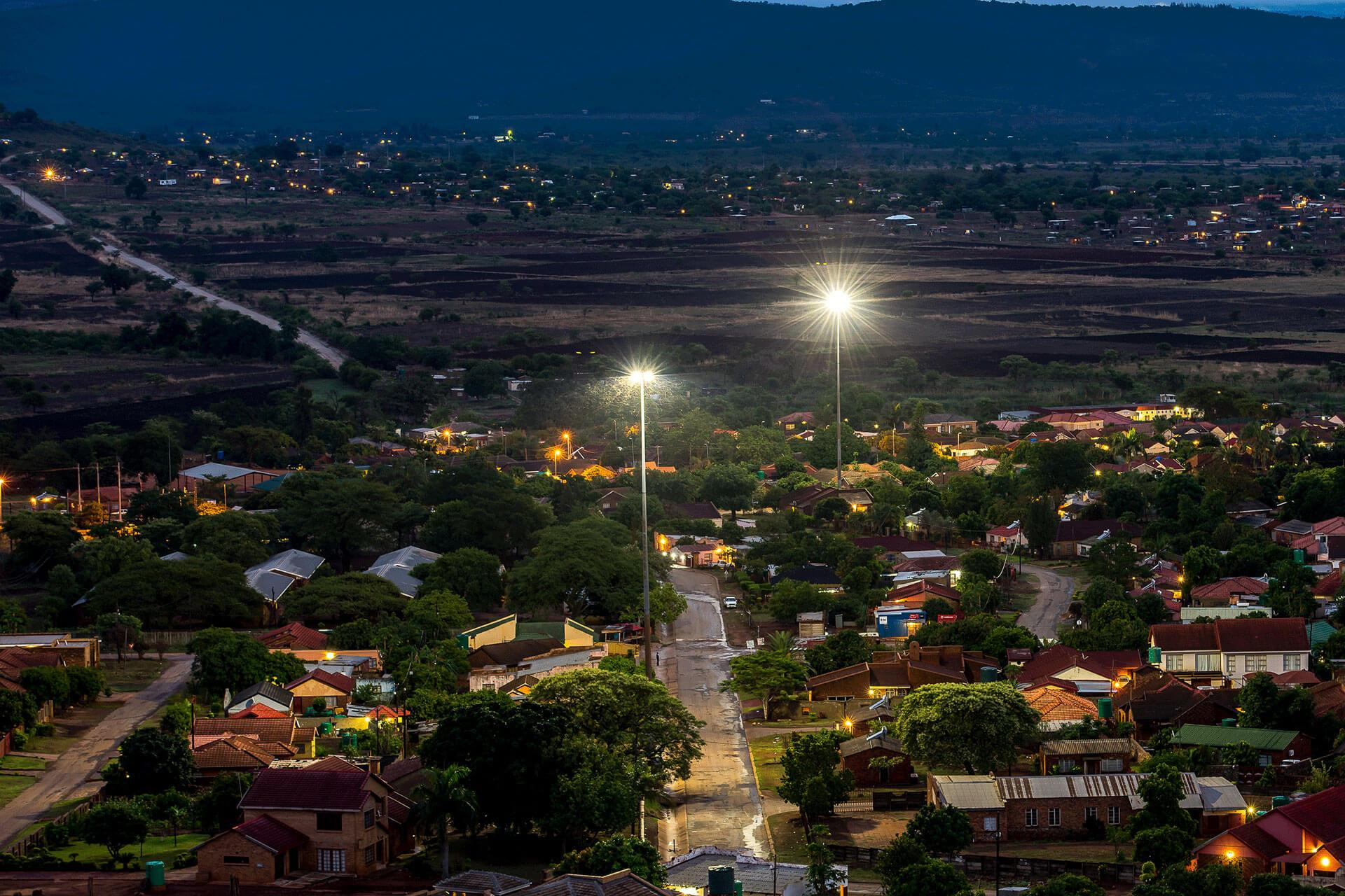 Outdoor LED lighting solution ensures visual comfort for residents in Tzaneen