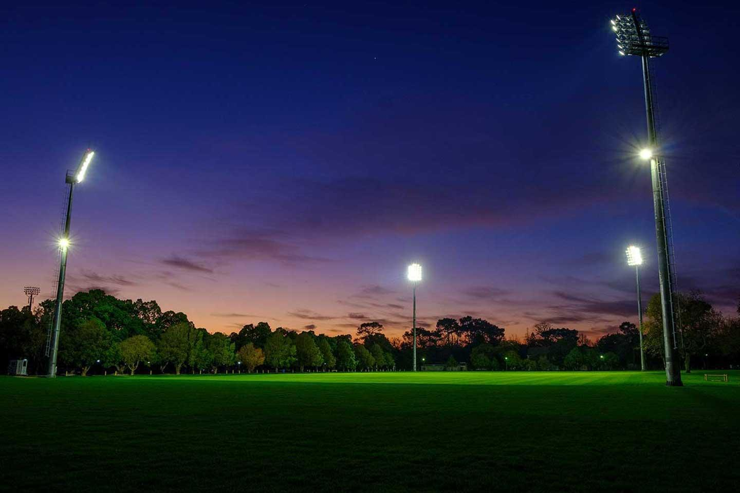 OMNISTAR sports lighting solution switches on instantly, saving time, energy and money